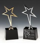 Gold Star Black Optical Crystal Awards