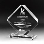 Rhombus Plaque Crystal Award Clear Optical Crystal Awards