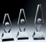 Golf Ball Diamond Trophy Crystal Award Diamond Awards