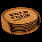 Cork Round Coaster Set with Holder Kitchen Gifts