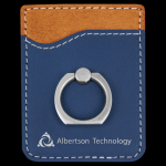 Blue/Silver Leatherette Phone Wallet with Ring Misc. Gift Awards