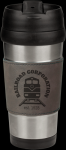 Stainless Steel Mug Wtih Gray Leatherette Grip Promotional Mugs