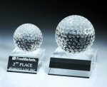 Desk Top Golf Ball Sport Crystal Awards