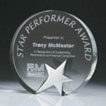 Top Star Circle Crystal Award Star Awards