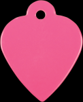 Stainless Steel Heart Shaped Pet Tag Street Tag Gifts